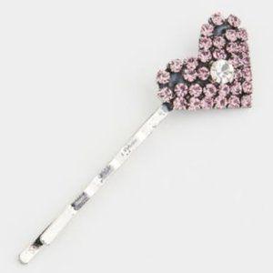 Dannijo Amari Crystal Heart Bobby Pin